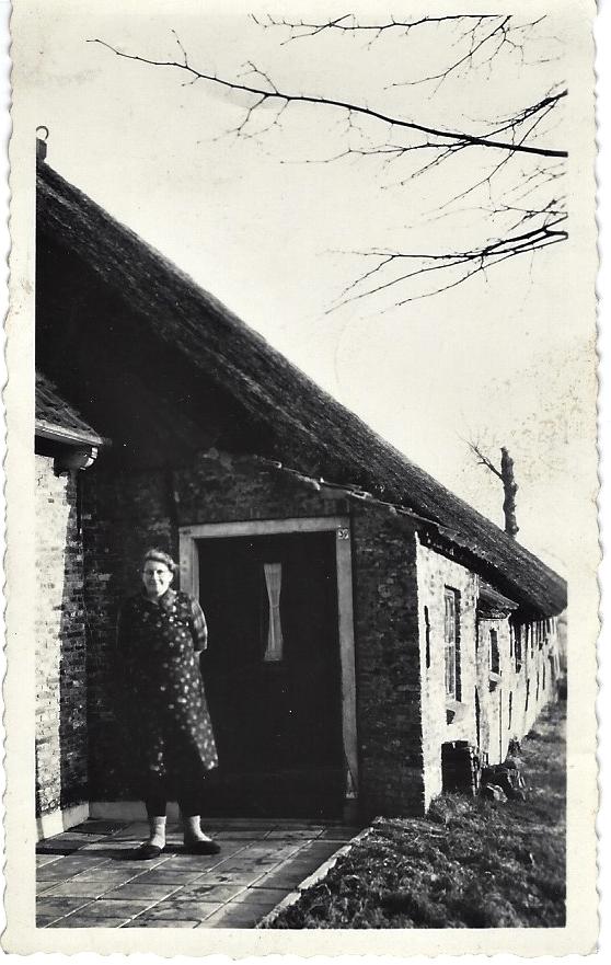 Nynke voor de boerderij, ca. 1950